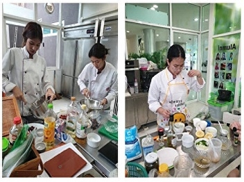 Hotel Management Program by Ms. Nakaporn Ketgomut, a lecturer in Restaurant Business major organized cooking class in the subject of HIR2304 Basic Technique for Commercial Cookery