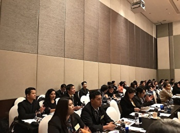 Lecturers of Hotel Management joined the panel discussion on developing a competitive workforce in tourism and hospitality towards Thailand 4.0