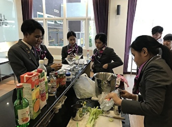 Students of Hotel Management Program learned and created their own beverages on 2nd April 2019.