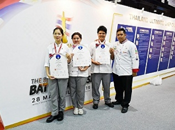 """Hotel Management students participated in cooking competition """"THAIFEX"""" 28May – 1June 2019, IMPACT ARENA, Nonthaburi"""