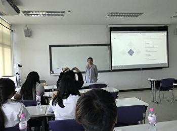 อาจารย์นคภรณ์ เกตุโกมุตจัดการเรียนการสอนในรายวิชา HHM 1204 Professional Ethics and Laws for Hospitality Industry สำหรับนักศึกษาสาขาวิชาการโรงแรม ปีที่2