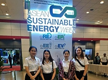 Students of Hotel Management Program joined ASEAN Sustainable Energy Week at BITEC Bangna, on June 6th, 2019