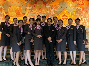 Students of Hotel Manage Program, Both Hotel Management Major and Restaurant Business Major Joined the Training of Western Table Manner at Anantara Siam Bangkok on November 14, 2019.