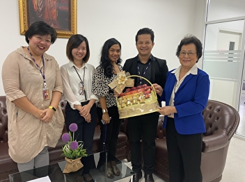Lecturers of Hotel Management Program Meet and Wish The Happy New Year to Asst.Prof.Dr Krongthong Kairiri, Dean of International College