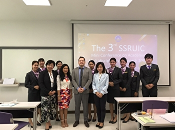 SSRUIC Mini Conference 2020, Lecturers and Hotel Management Students Participated in Research Presentation at International College, Suan Sunandha Rajabhat University. February, 5th 2020.