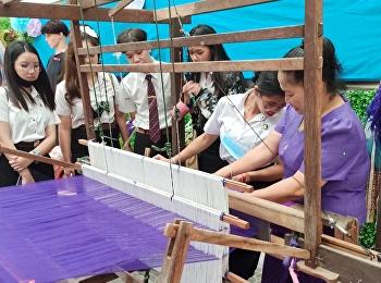 นักศึกษาการโรงแรมและธุรกิจภัตตาคารเข้าร่วมกิจกรรมสัปดาห์วัฒนธรรม ส่งเสริมการเรียนรู้อัตลักษณ์ไทยและวิถีชาววัง ณ วิทยาลัยนานาชาติ มหาวิทยาลัยราชภัฏสวนสุนันทา
