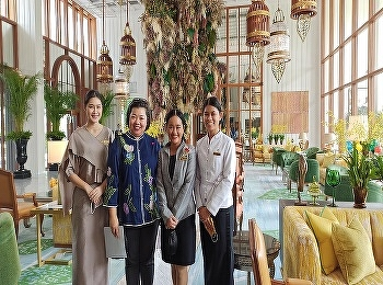 Miss Nuntana Ladplee, Lecturer of Hotel Management Program Visited Hotel Students Code 60 at Mandarin Oriental Hotel During the Internship Period.